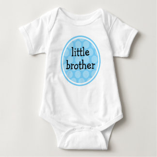 Little Brother Blue Polka Dot Circle Tees