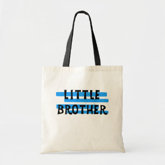 Little Brother Blue Stripes Tshirts and Gifts Canvas Bag