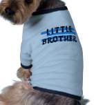 Little Brother Blue Stripes Tshirts and Gifts Doggie Tee