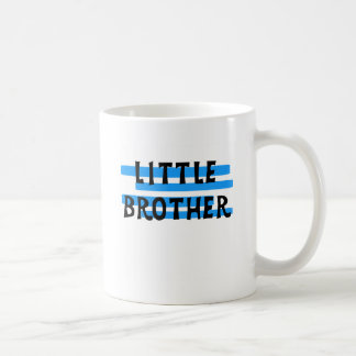 Little Brother Blue Stripes Tshirts and Gifts Classic White Coffee Mug
