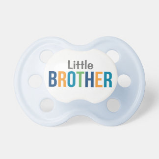 Little Brother | Boy's Custom Baby Pacifier BooginHead Pacifier