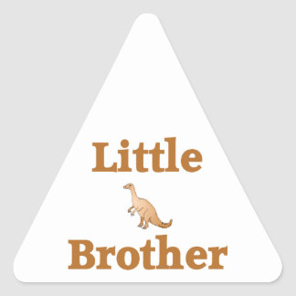 Little Brother Brown Dinosaur Triangle Sticker