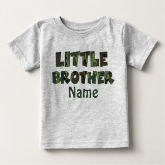 Little Brother Camo Personalized Shirt