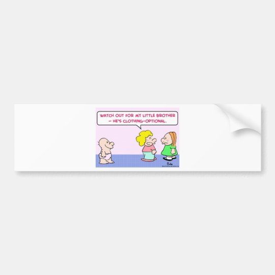 little brother clothing optional bumper sticker