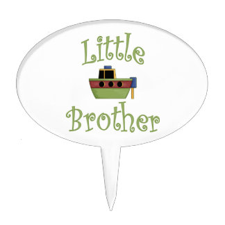Little Brother Cute Boat Cake Topper