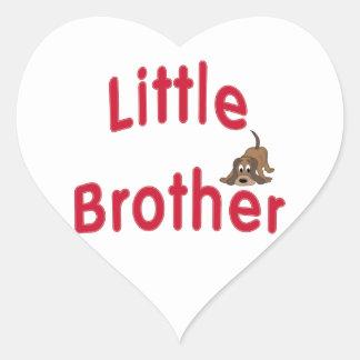 Little Brother Cute Hound Heart Sticker