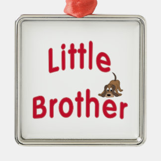 Little Brother Cute Hound Metal Ornament