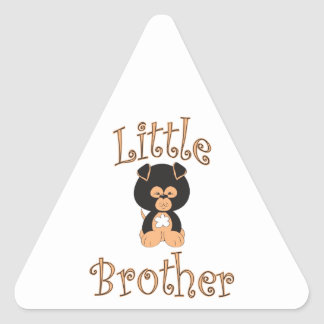 Little Brother Cute Puppy Triangle Sticker