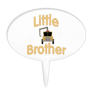 Little Brother Cute Tow Truck Cake Topper