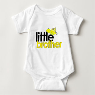 little brother dinosaur new baby bodysuit