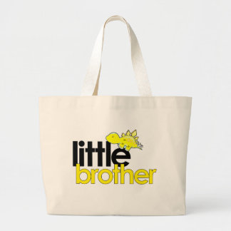 little brother dinosaur new large tote bag