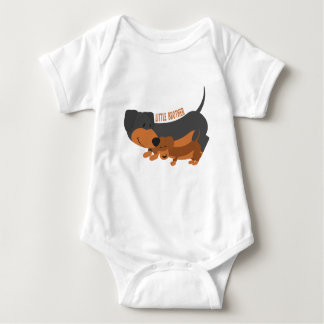 Little Brother (dogs) Baby Bodysuit