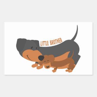 Little Brother (dogs) Rectangular Sticker