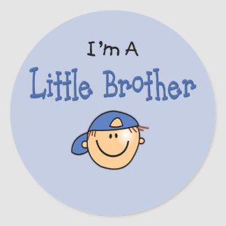 Little Brother  Face Classic Round Sticker