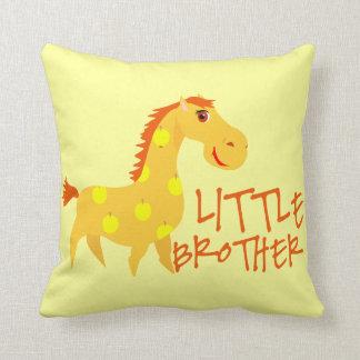 Little Brother Giraffe Throw Pillow