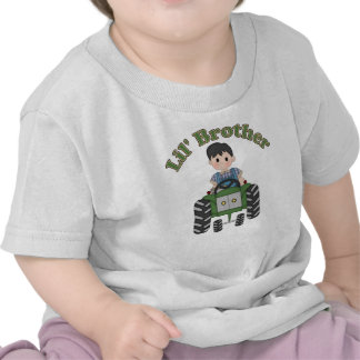 Little Brother Green Tractor Tee Shirt