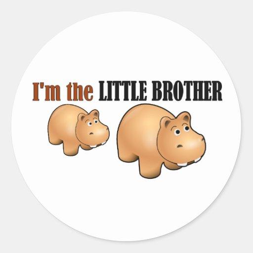 Little brother (hippo) round sticker