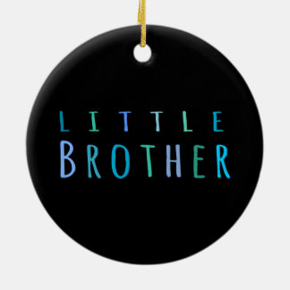 Little Brother in blue Ceramic Ornament