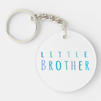 Little Brother in blue Keychain