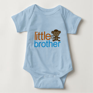 Little Brother Monkey Baby Bodysuit
