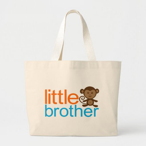 Little Brother Monkey Canvas Bag