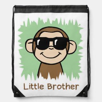 Little Brother Monkey Drawstring Bag