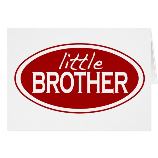 Little Brother (oval) Greeting Card