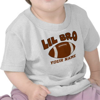 Little Brother Personalized Football Tee Shirt
