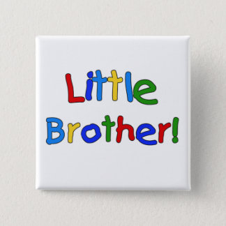 Little Brother Primary Colors Tshirts and Gifts Button