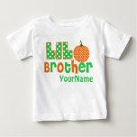 Little Brother Pumpkin Personalized Shirt