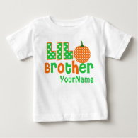 Little Brother Pumpkin Personalized Shirt