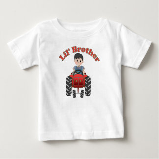 Little Brother Red Tractor Baby T-Shirt