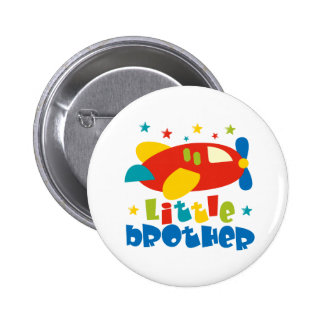Little Brother Stars Plane Pinback Button