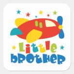 Little Brother Stars Plane Square Sticker