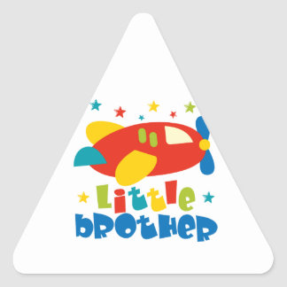 Little Brother Stars Plane Triangle Sticker