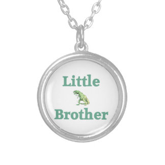 Little Brother T-Rex Dinosaur Round Pendant Necklace