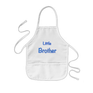 Little Brother Typography Kids' Apron