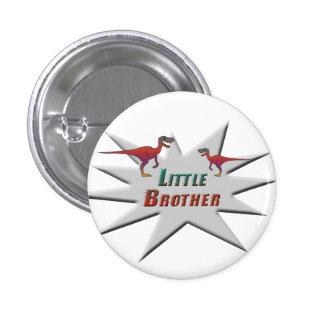Little Brother Velociraptor Design Pinback Button