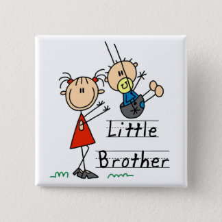 Little Brother with Big Sister Tshirts Button