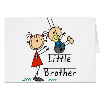Little Brother with Big Sister Tshirts Card