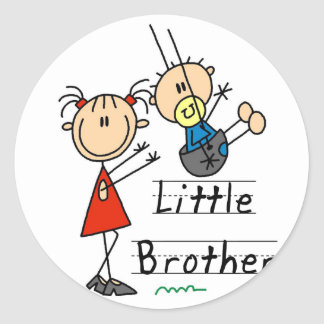 Little Brother with Big Sister Tshirts Classic Round Sticker