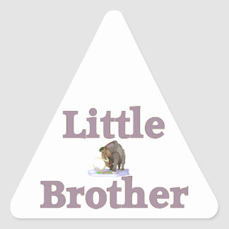 Little Brother Wooly Mammoth Triangle Sticker