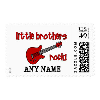 Little Brothers Rock!   with Guitar Postage Stamp