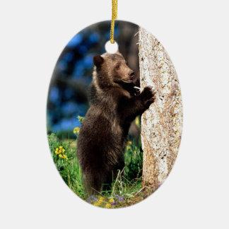 Little Brown Bear Ceramic Ornament