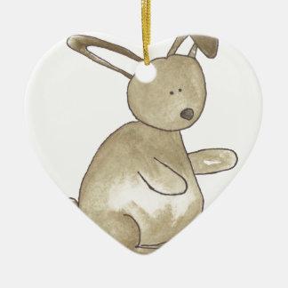 Little Brown Bunny Ceramic Ornament
