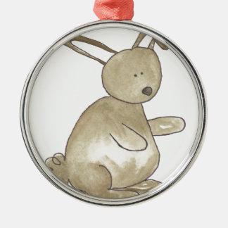 Little Brown Bunny Metal Ornament