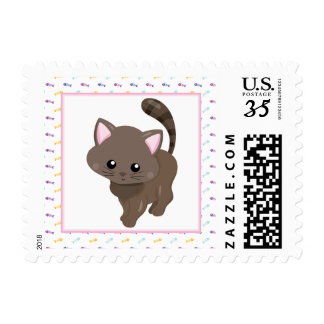 Little Brown Cat Postage