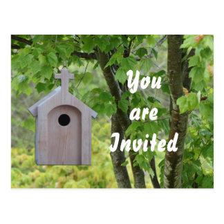 Little Brown Church Birdhouse Postcard-customize Postcard