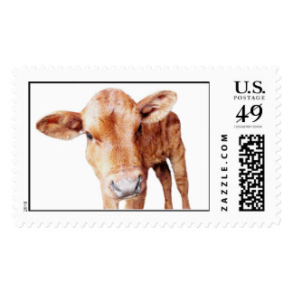 Little Brown Cow Postage Stamps