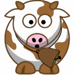 Little Brown Cow with Cowbell Cut Outs